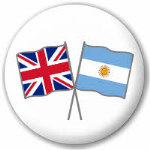 Great Britain and Argentina Friendship Flag 25mm Pin Button Badge